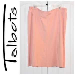 Talbots Peachy Coral Skirt size 14W